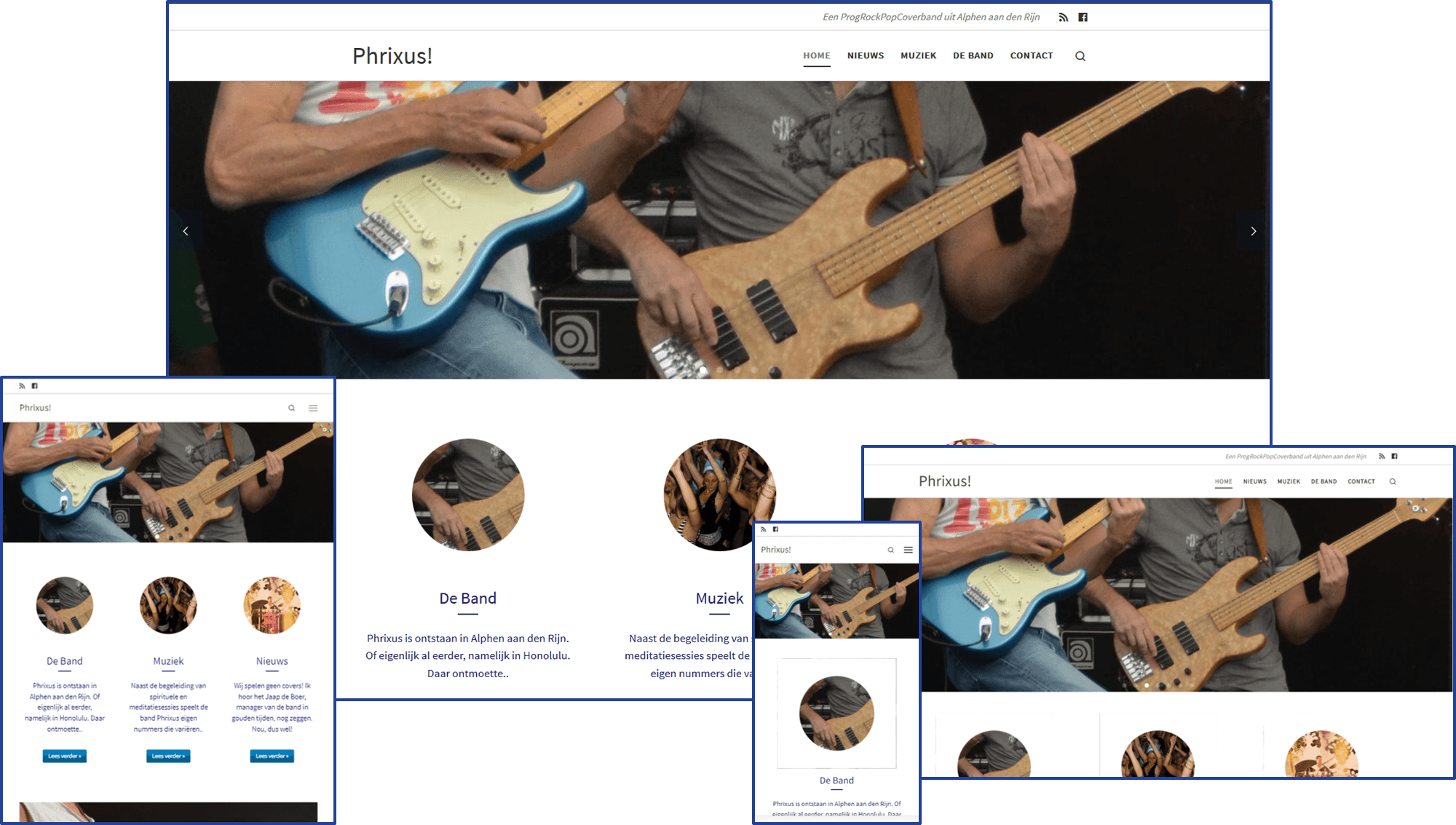Website van de band Phrixus