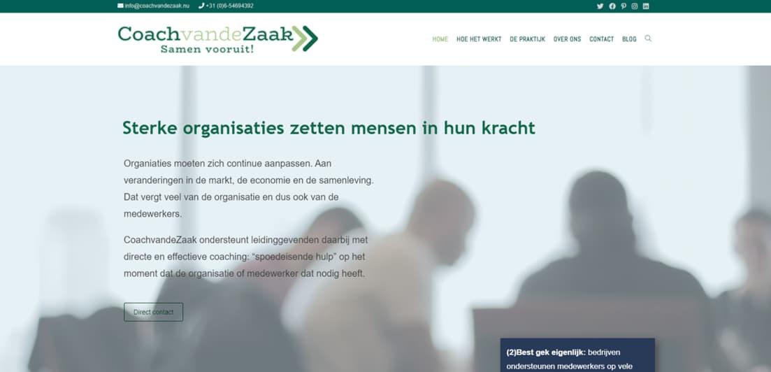 Website van CoachvandeZaak