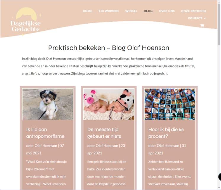 YourWebPro portfolio - project Dagelijkse Gedachte