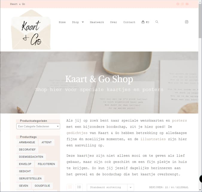 YourWebPro portfolio - project Kaart&Go