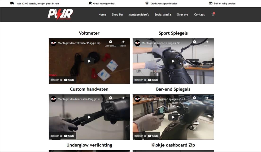 YourWebPro portfolio - project webshop PWR Special Parts