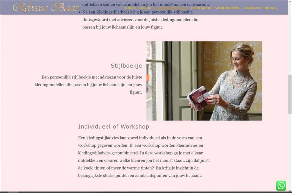 YourWebPro portfolio - project website RebeccaBaars.nl
