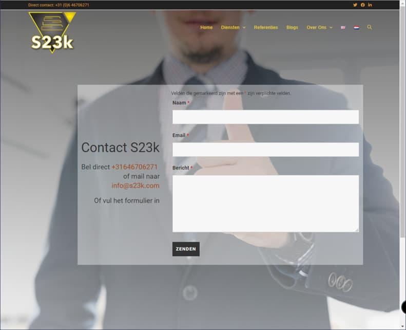 YourWebPro portfolio - website S23k.com