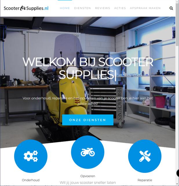 YourWebPro portfolio - website ScooterSupplies