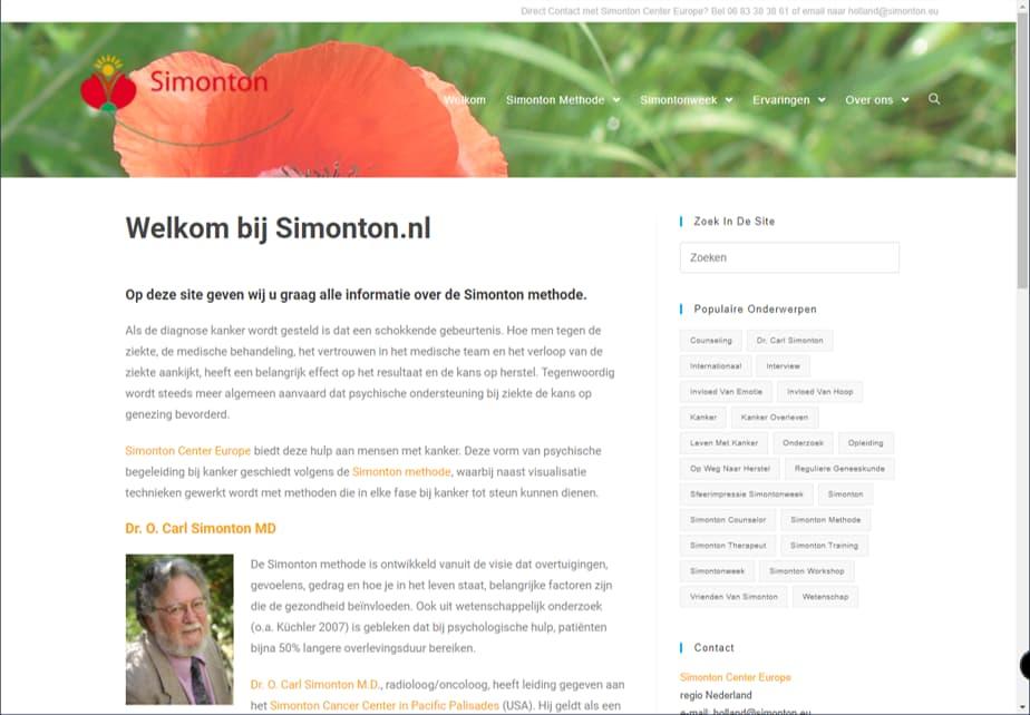 YourWebPro portfolio - website Simonton NL