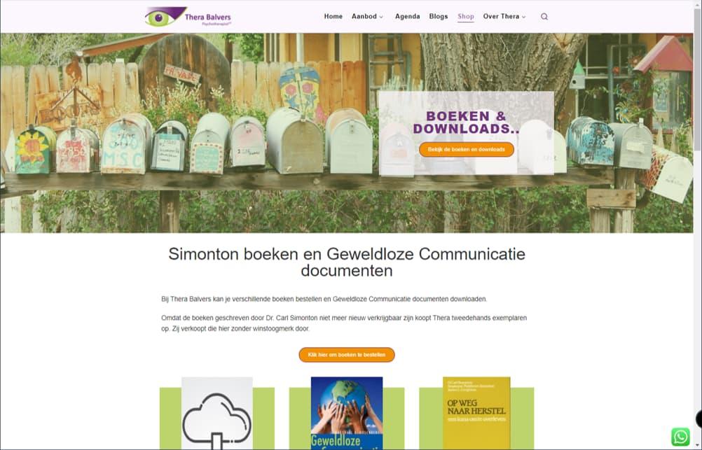 YourWebPro portfolio item - Project website van Thera Balvers