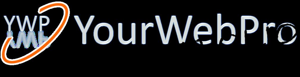Logo van het portfolio van YourWebPro - zwart onderschrift