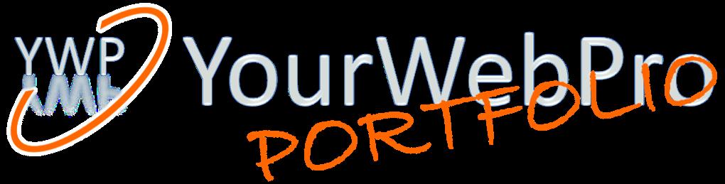 Logo van het portfolio van YourWebPro - oranje onderschrift