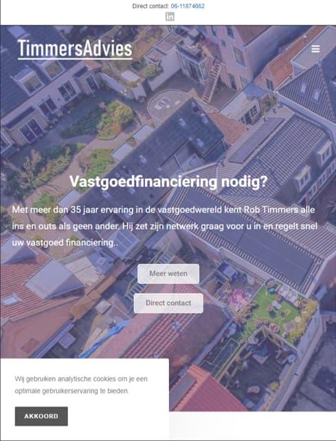 YourWebPro portfolio - Website van TimmersAdvies